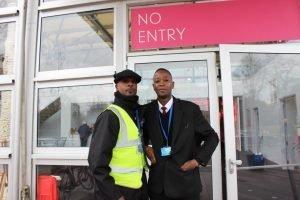 Staff at Affordable Art Fair Battersea Spring