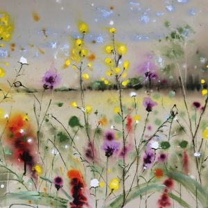Wild flowers and a summer breeze
