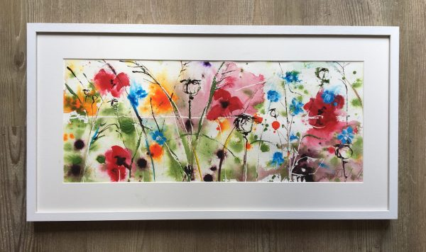 Poppies and corn flowers - Framed