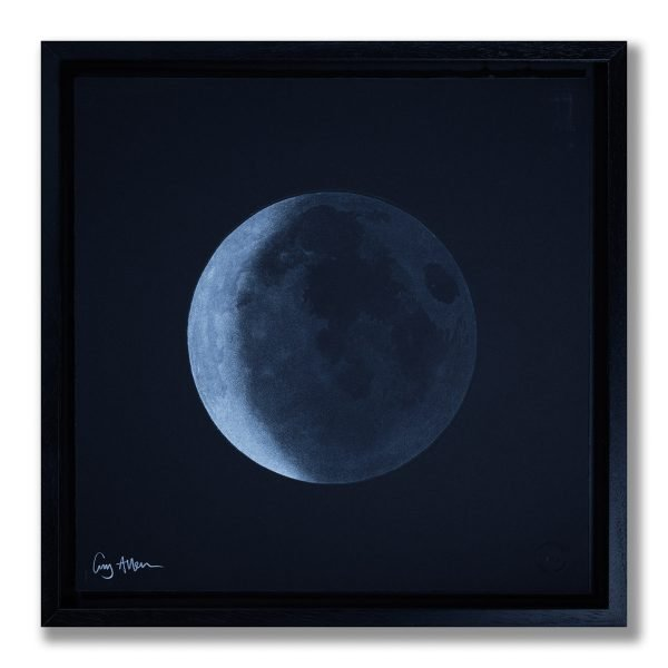 Waning Crescent Moon - The Old Moon - Framed