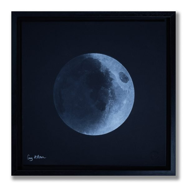 Waxing Crescent Young Moon - Framed