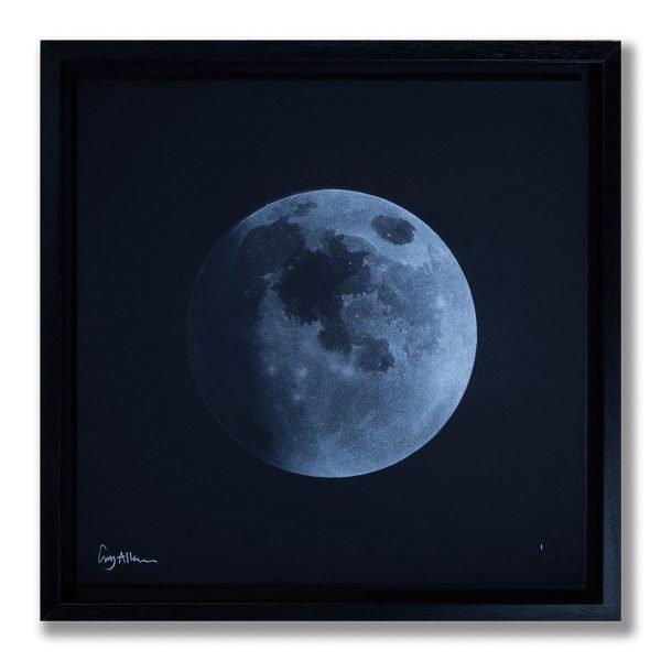 Waxing Gibbous Moon - Framed